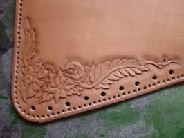 Leather Cheek-Pad - WIP04 by Bear-Crafter