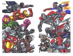 Armored Marvel Vs. Armored DC