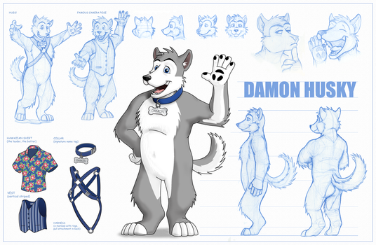 Damon Husky Reference Sheet by LycanDID