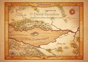 Mapa antiguo - Antique map 2 by DEGillustration