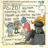 CHIBI-NOOCHANS and Uncle murdoc. comic2.5 by rumrock