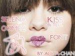 Selena Gomez Kiss an Tell Font by allya-chan