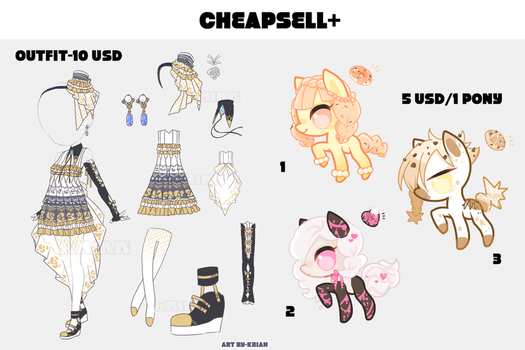 (SET PRICE OPEN-3/4) CHEAPSELL!04 by krianart