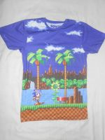 Sonic Green Hill Zone T-shirt (Front) by BoomSonic514