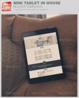 Mini Tablet In House Mockup Template by loswl