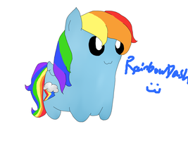 Rainbow Dash blob by PearsandMilk