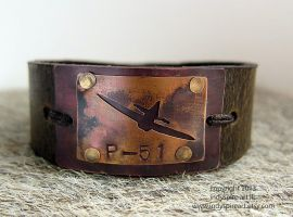 P-51 Bracelet Conquer The Skies v1 by indyspireArt