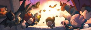 Scribblenauts Unmasked DC army. by Mad-Ed