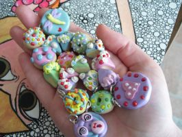 clay charms by jaimis