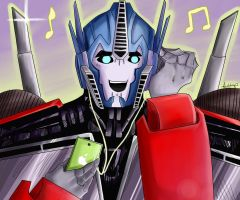 Optimus's ipod by Nemesis-Nexus