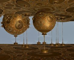 Lampshade Factory - Hommage to Montgolfier by marbrure