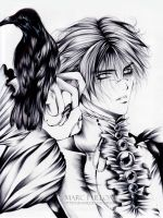 The king and the crow... by Giname