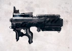 speed painted bullpup POP by torvenius