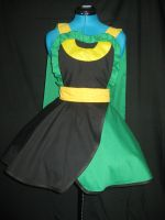 Loki Inspired Cosplay Pinafore With Cape by DarlingArmy