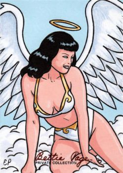 Bettie Page Sketch Card 14 by ElainePerna
