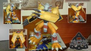 Digimon WarGreymon Papercraft COMPLETE by HellswordPapercraft