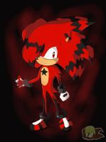 Art Trade: Red The Awesome Hedgehog by Flame-of-Icarus