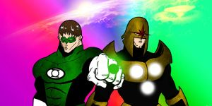 Nova/Green Lantern - For the corps by lone-wolf-boudin