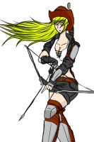 Elsword/Fallout: Wasteland Rena by sketchingchaos