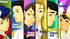 Disney Princes by wool100ee