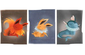 Eeveelutions: Gen 1 by AshKays