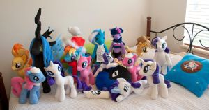 Pony Plushies! by adamlhumphreys