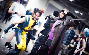 Wolverine and Gambit cosplay T-rex Gymnastics by ArijanRemiGhoreishi
