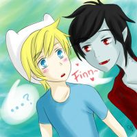 Adventure Time: Finn and Marshall Lee by Shubloo
