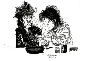 Blixa and Nick by FabioVermelho