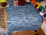 Knitted Blanket Finished by catluvr2