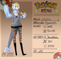 Poke-Village App-Claire by kukuku0kattie