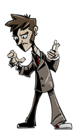 Tenth Doctor Doodles by SkipperWing