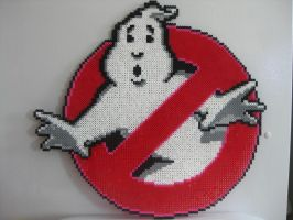 Perler Big Ghostbusters Logo by Slimer530