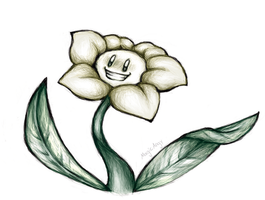 Flowey doodle by MagicAngy4427