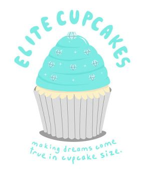 elite cupcakes logo design. by sleepysleeps