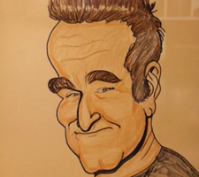Robin Williams Caricature by rickyscomics