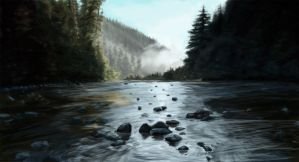 Woodland River by PoorGent