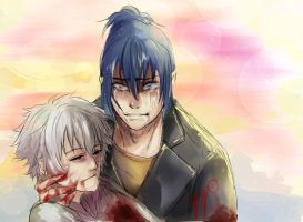 No.6  Nezumi and Sion by ViciousJay