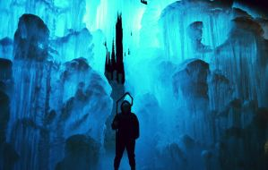 JF: within the ice castle by MoonsVeil