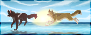 .: Walk On Water + Speed Paint :. by MorningAfterWolf