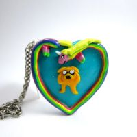 Adventure Time inspired Jake and Lady locket by TrenoNights