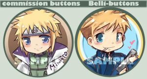 Belli-buttons Minato and Jean by Jin-E