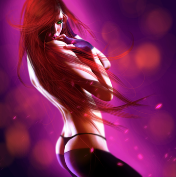 Sexy Katarina Painting (League of Legends) by Dex91