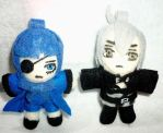 Ciel and Snake Plush Keychains by TashaAkaTachi