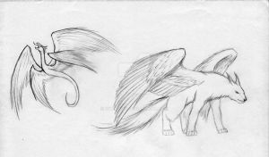Sketches: Winged by Nyranor