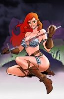 Red-Sonja by DarthTerry