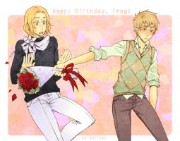 APH - happy birthday frog by PetitPotato