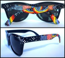Nyan Cat sunglasses by Dupa-grzywa