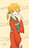 Yukata Girl by WarmWinter