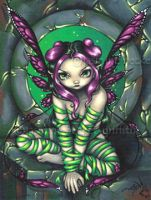 Captive Fairy by jasminetoad